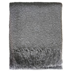 Limon Acrylic Boucle Yarn Throw Gunmetal