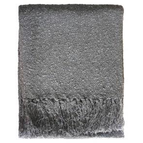 Limon Acrylic Boucle Yarn Throw Gunmetal