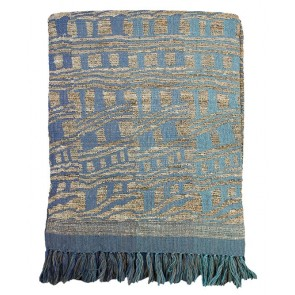 Mulberi Samara Blue Throw