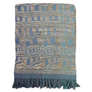 Mulberi Samara Blue Throw
