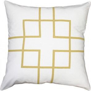Mulberi Rockefeller Cushion - Gold/White