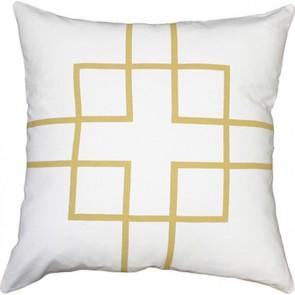 Mulberi Rockefeller Cushion - Gold/White