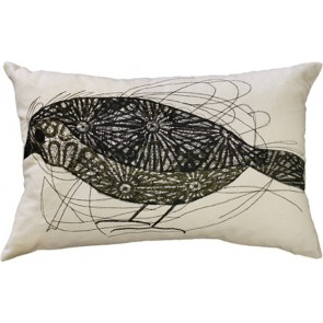 Mulberi Scribble Bird Cushion