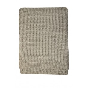 Mulberi Milford Moss Stitch Throw - Stone/Natural