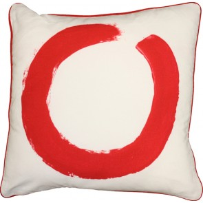 Mulberi Studio Studio Painted Ring Cushion - White/Red