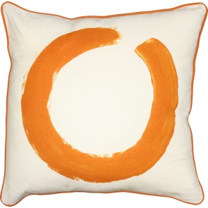Mulberi Studio Painted Ring Cushion - White/Orange