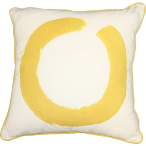 Mulberi Studio Painted Ring Cushion - White/Yellow