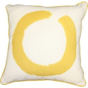 Mulberi Studio Painted Ring Cushion - White/Yellow