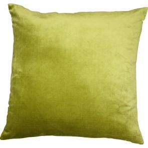 Mulberi Majestic Velvet/Linen Cushion - Cactus Green