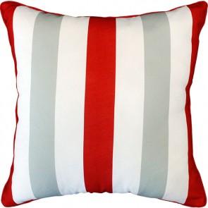 Mulberi In & Outdoor - Cala Stripe - Red Cushion