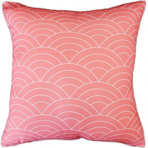 Mulberi In & Outdoor - Breaking Waves - Coral Cushion
