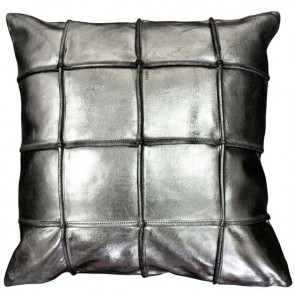 Mulberi Houston - Silver Leather Cushion