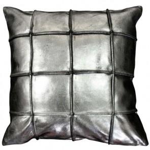 Mulberi Houston - Silver Leather Cushion