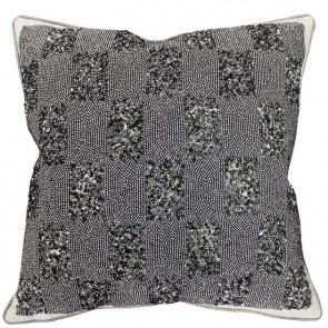 Mulberi Ritz Monroe - Silver Sequinned-Natural Cushion