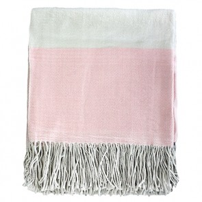 Limon Alexandra - Dusky Pink-Cream Throw