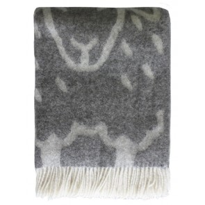 Mulberi Flock of Sheep 100% Wool Throw -  Natural Grey