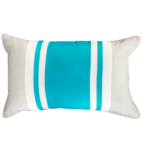 Mulberi In and Outdoor Cushion Drift Stripe - Scuba Blue-Light Grey