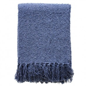 Limon Acrylic Boucle Yarn Throw Storm Blue