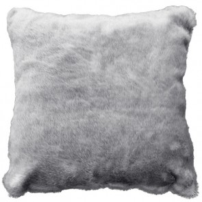 Glenhope Silver Mink Faux Fur Cushion
