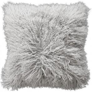 Mulberi Meru Tibetan Lam Cushion Silver Grey