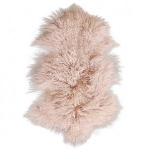Meru Blush Pink Tibetan Lamb Rug