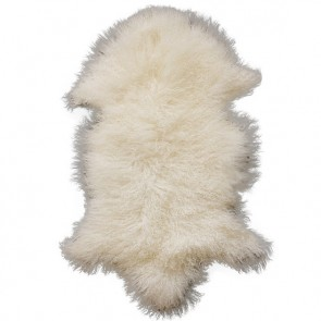 Meru Natural White Tibetan Lamb Rug
