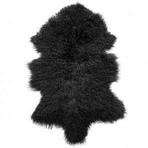 Meru Black Tibetan Lamb Rug