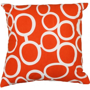 Limon Metro Linked Circles Orange/White Cushion