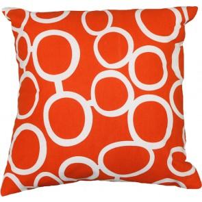 Limon Metro Linked Circles Orange/White Cushion