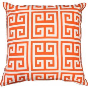 Limon Metro Maze Print Orange/White Cushion