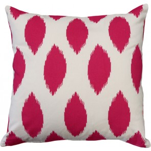 Limon Metro Ikat Print Pink/White Cushion