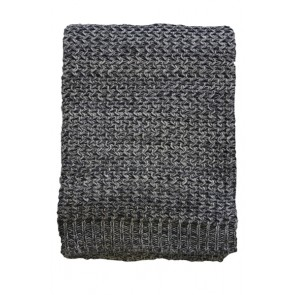 Mulberi Odette Charcoal Throw - Create a natural feel with these 100% cotton  knitted throws, they will be sure to add a warm and luxury touch to your home decor.