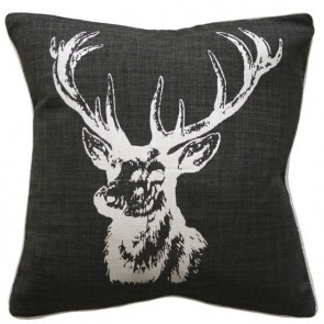 Limon Buck Charcoal Silver Cushion