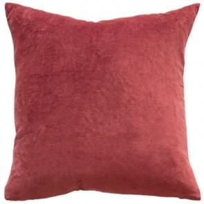 Mulberi Majestic Velvet/Linen Cushion - Cayenne