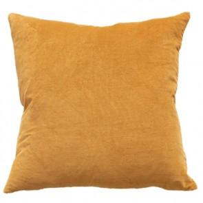 Mulberi Majestic Velvet/Linen Cushion - Ochre