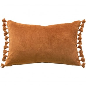 Mulberi Este Nutmeg Cotton Velvet Cushion