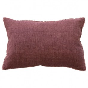 Mulberi Kobo 100% Linen Cushion - Red Clay