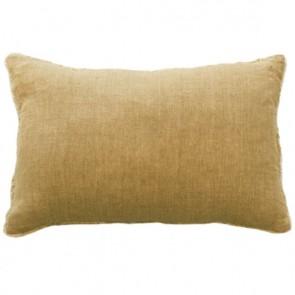 Mulberi Kobo 100% Linen Cushion - Ochre