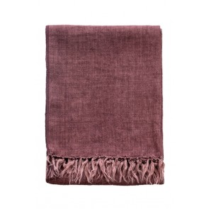 Mulberi Pure Linen Indira Red Clay Throw