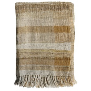 Mulberi Saratoga Wool-Silk Blend Ochre Throw