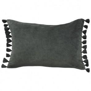 Mulberi Este Caper Cotton Velvet Cushion