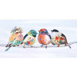 Beauty Birds & A Branch Canvas Art