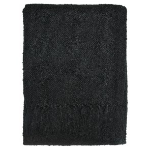 Limon Acrylic Boucle Yarn Throw Black