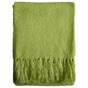 Limon Acrylic Boucle Yarn Throw Lime