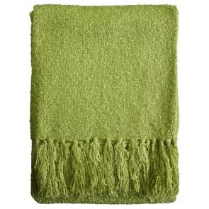 Limon Acrylic Boucle Yarn Throw Lime