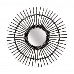 Linear I Round Rattan Mirror 57cm Dia