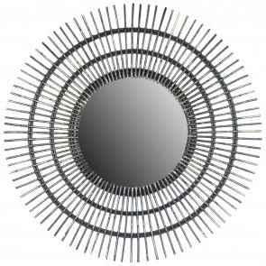 Linear II Round Rattan Mirror 120cm Dia