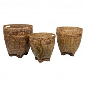 Rattan Lombok Baskets - Set of 3
