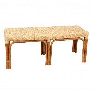 Rattan Bench Seat Natural