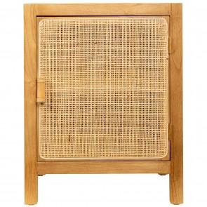 Woven Wood Bedside Cabinet